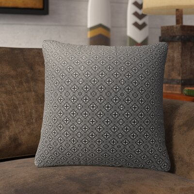 Liberty Street Indoor/Outdoor Throw Pillow Color: White/Black, Size: 18 H x 18 W