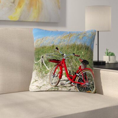Philip Brown A Day at the Beach Outdoor Throw Pillow Size: 18 H x 18 W x 5 D