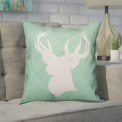 Crandell Deer Silhouette Throw Pillow