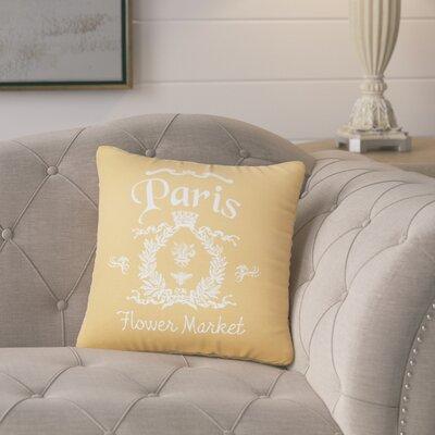 Circee Flower Market Cotton Throw Pillow Color: Golden Rod