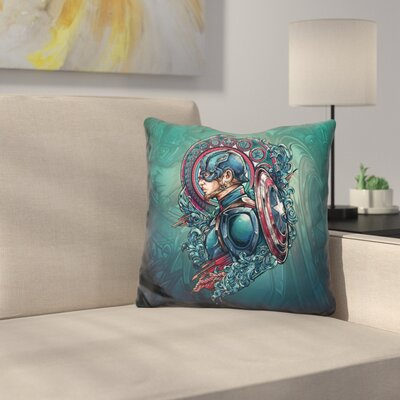 Captain Rage Throw Pillow