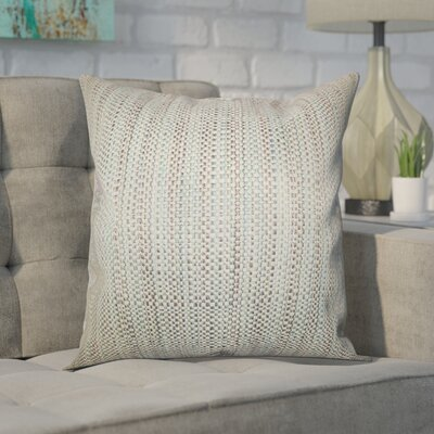Kardos Throw Pillow Color: Aqua, Size: 18x18