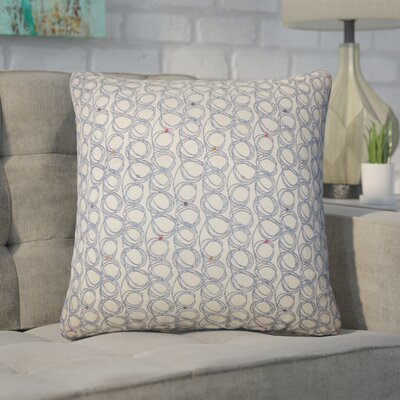 Zech Geometric Throw Pillow Color: Blueberry