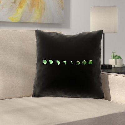 Ziyan Moon Phases 100% Cotton Throw Pillow Size: 26 x 26