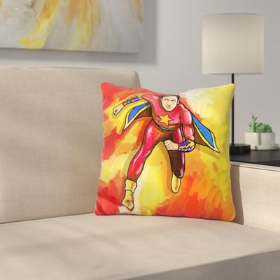 Mr Superhero Throw Pillow