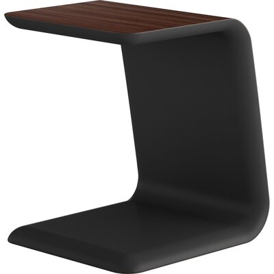 Upton End Table Color: Black