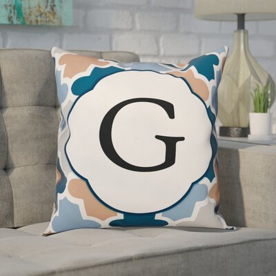Comstock Monogram Throw Pillow Letter: G