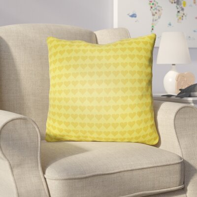 Colinda Square Throw Pillow Size: 20 H x 20 W x 4 D, Color: Yellow