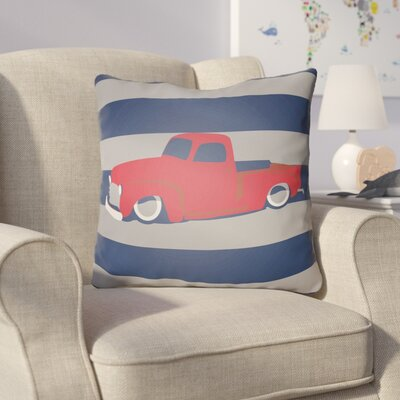 Colinda Car Throw Pillow Size: 20 H x 20 W x 4 D, Color: Navy/Grey