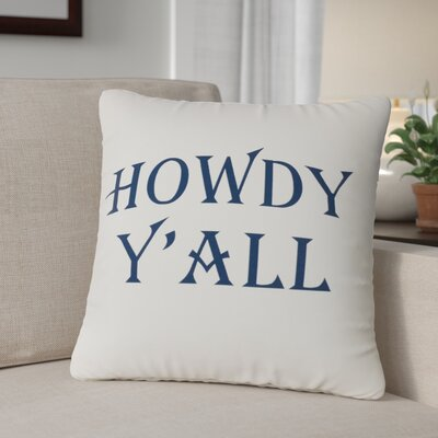 Andtree Howdy Yall Throw Pillow