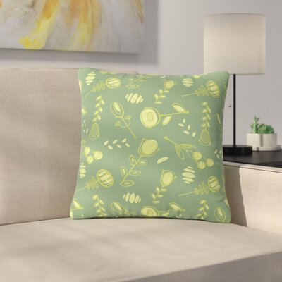 Holly Helgeson Hattie Floral Outdoor Throw Pillow Size: 16 H x 16 W x 5 D