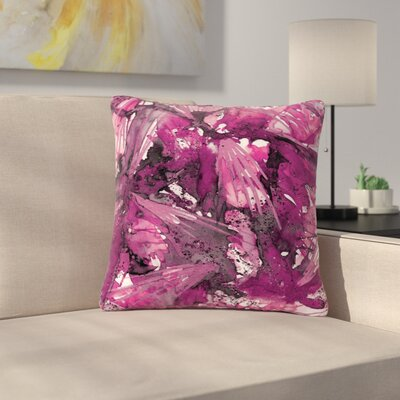 Ebi Emporium Birds Outdoor Throw Pillow Size: 16 H x 16 W x 5 D, Color: Pink