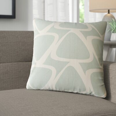 Cherish Geometric Cotton Throw Pillow Color: Dew