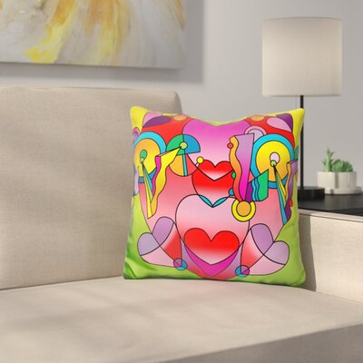 Love Color Heart Throw Pillow