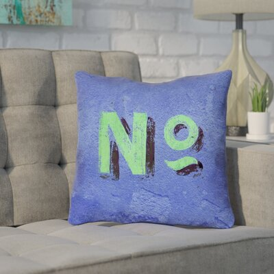 Enciso Graphic Wall Outdoor Throw Pillow Size: 16 x 16, Color: Blue/Green