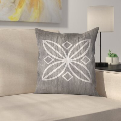 Wood Pattern Throw Pillow Size: 18 x 18