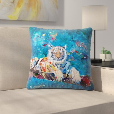 Sunshine Taylor Tiger Indoor/Outdoor Throw Pillow Size: 16 x 16