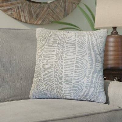 Woudrichem Geometric Cotton Throw Pillow Color: Graystone