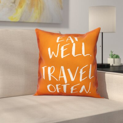 Onion Creek Eat Well Travel Often Throw Pillow