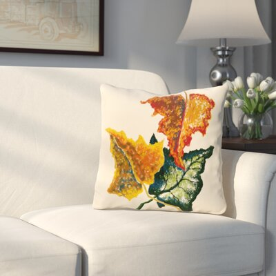 Wilmington Autumn Outdoor Throw Pillow Color: Off White