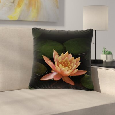 Nick Nareshni Lily Pad Flower Outdoor Throw Pillow Size: 18 H x 18 W x 5 D