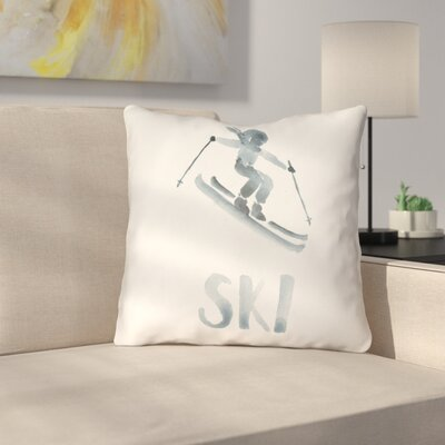 Marie Indoor/Outdoor Throw Pillow Size: 18 H x 18 W x 4 D, Color: Gray