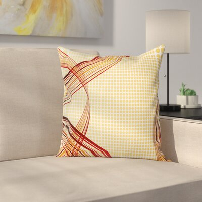 Modern Curve Graphic Pillow Cover Size: 18 x 18