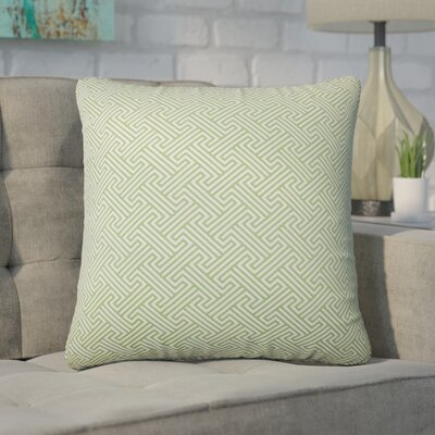 Wyckhoff Geometric Cotton Throw Pillow Color: Kiwi