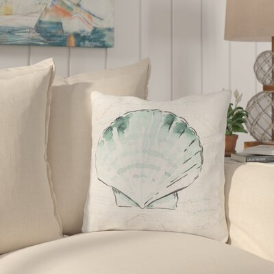 Chaucer Script and Shell Outdoor Throw Pillow Size: 18 H x 18 W x 4 D