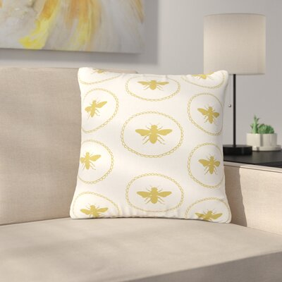 Jennifer Rizzo Busy as a Bee Nature Outdoor Throw Pillow Size: 16 H x 16 W x 5 D