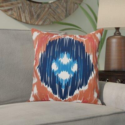 Eudora Original Outdoor Throw Pillow Size: 20 H x 20 W, Color: Coral/Blue