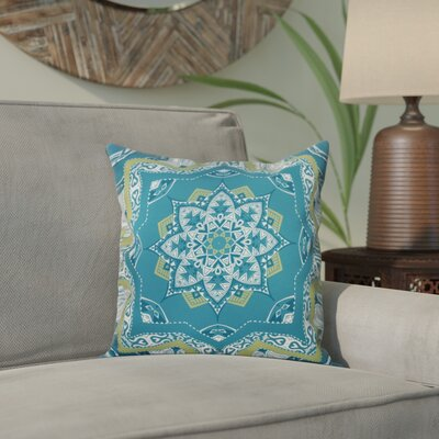 Meetinghouse Shawl Geometric Print Throw Pillow Size: 18 H x 18 W, Color: Teal