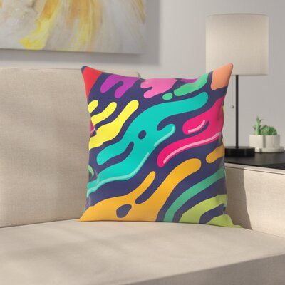 Joe Van Wetering Liquid Throw Pillow Size: 14 x 14