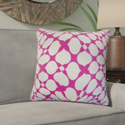 White City Geometric Linen Throw Pillow Color: Raspberry