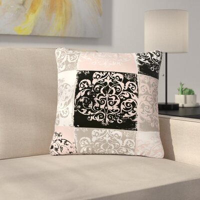 Chickaprint Damaskmix Outdoor Throw Pillow Size: 16 H x 16 W x 5 D