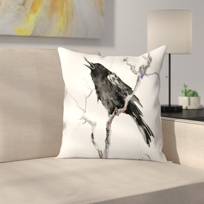 Suren Nersisyan Crow 2 Throw Pillow Size: 14 x 14