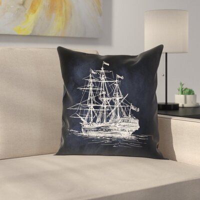 Ship 2 Throw Pillow Size: 14 x 14