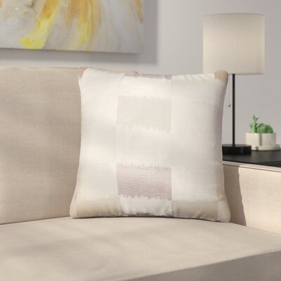 Rowen Geometric Throw Pillow Color: Tan
