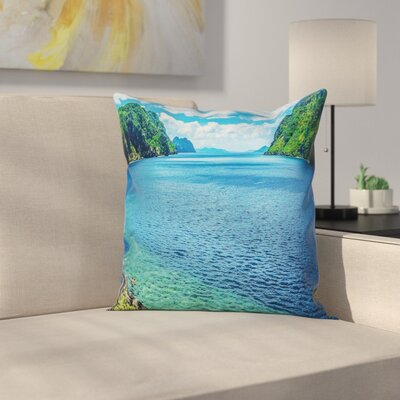 Square Pillow Cover with Zipper Size: 18 x 18