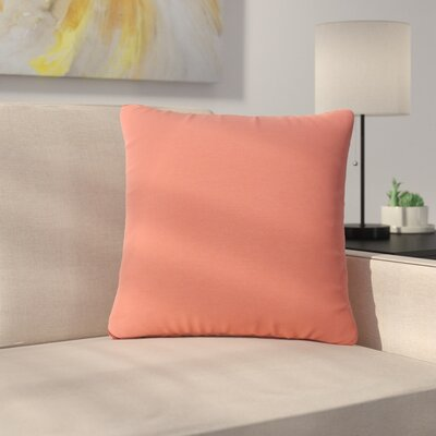 Maynor Square Indoor/Outdoor Throw Pillow Color: Coral