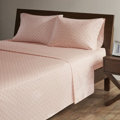 Washburn 200 Thread Count Percale Sheet Set Size: King, Color: Blush