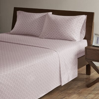 Washburn 200 Thread Count Percale Sheet Set Size: King, Color: Lavender