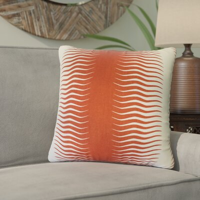 Ursina Geometric Down Filled 100% Cotton Throw Pillow Size: 20 x 20, Color: Persimmon