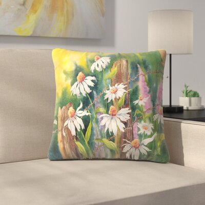 Sunshine Taylor Daisy Dance Indoor/Outdoor Throw Pillow Size: 16 x 16