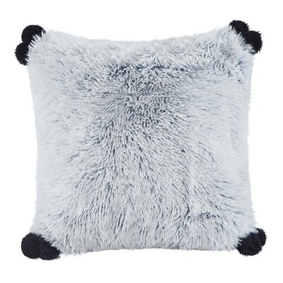 Mcquaid Indoor Shaggy Faux Fur Throw Pillow Color: Teal
