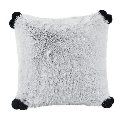 Mcquaid Indoor Shaggy Faux Fur Throw Pillow Color: Gray