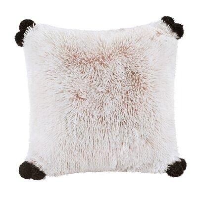 Mcquaid Indoor Shaggy Faux Fur Throw Pillow Color: Blush