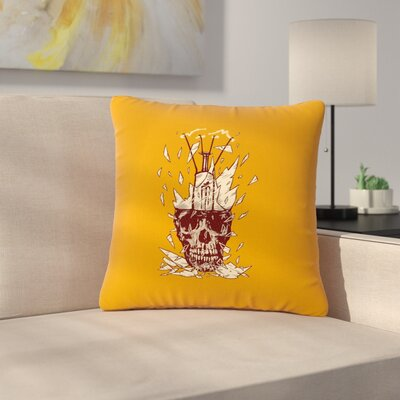 BarmalisiRTB Broken Bulb Outdoor Throw Pillow Size: 16 H x 16 W x 5 D