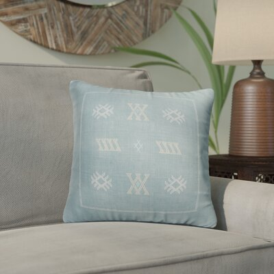 Touete Accent Throw Pillow Color: Aqua/ Blue, Size: 18 x 18