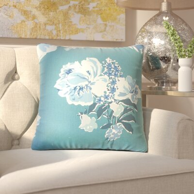 Bottorff Floral Cotton Throw Pillow Color: Blue